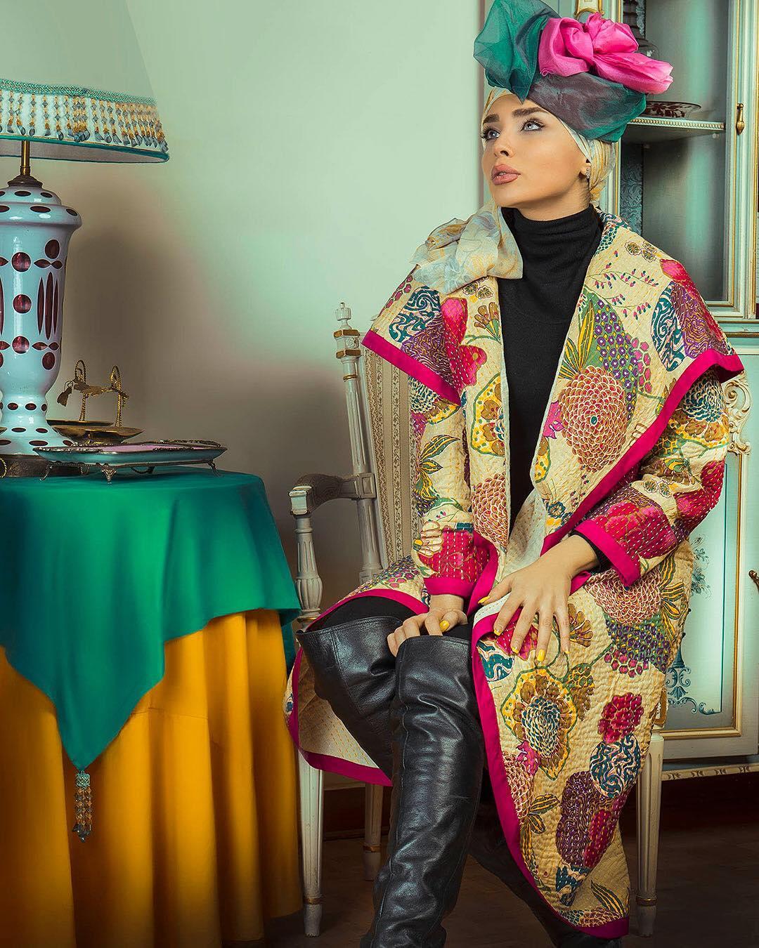 لباس مهلا زمانی  الگو از لباس های سنتی
